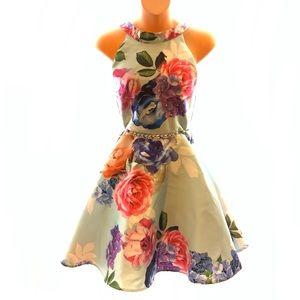 Nordstrom Floral Beaded Dress 🌿